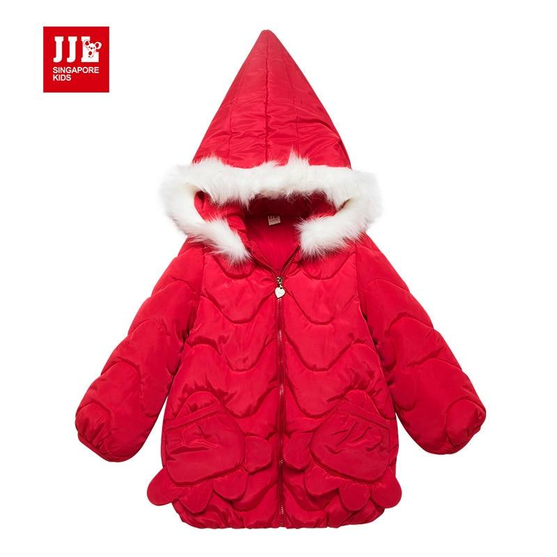 christmas girls coats red kids jackets children outwear warm fur hood flower pockets brand kids clothes 2017 brandОдежда и ак�е��уары<br><br><br>Aliexpress
