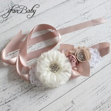 Fashion flower Belt,Woman Girl Sash Belt Wedding Sashes belt(China)
