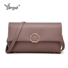 YBYT brand 2017 PU leather package women casual satchel female clutch solid folding messenger bag ladies shoulder crossbody bags