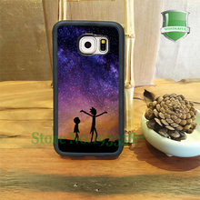RICK AND MORTY SPACE NEBULA Mobile Phone Cases For Samsung S7 S7 Edge S6 S6 Edge Plus S5 S4 S3 Note5 Note4 Note3 Note2 U*3315