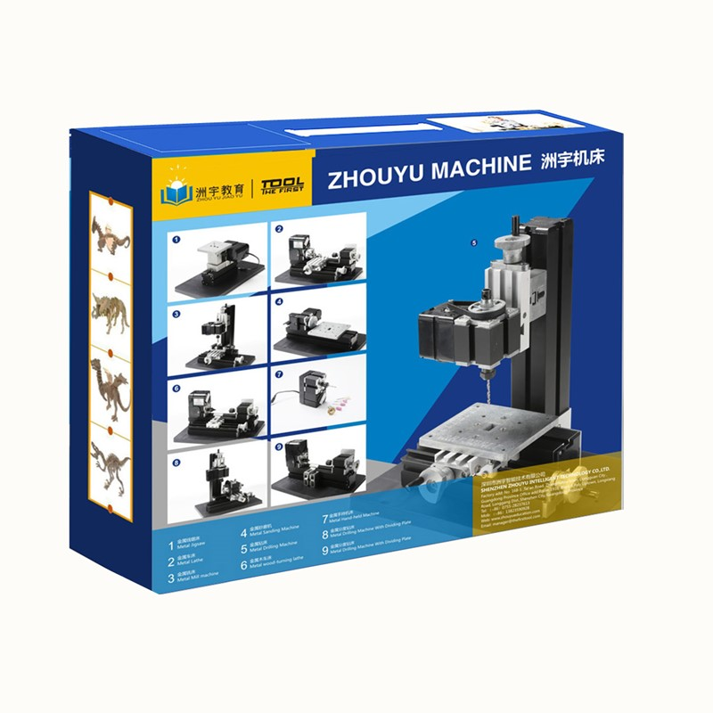 Thefirsttool Z8000M Metal Mini 8 in 1 Machine Kit Jigsaw Milling/Drilling Machine Children's Education Gift DIY Machine Tool