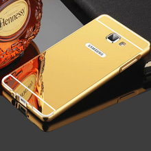 For Samsung A5 2016 Case Plating Mirror Aluminum Metal Bumper & PC Back Cover For Samsung Galaxy A5 A7 A3 2016 2015 2017 Cases