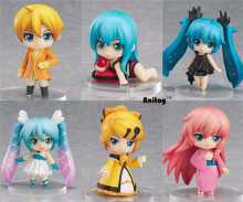 "Cute 6pcs/set Action 6.5cm Anime Hatsune Miku Thor Figure PVC 2.55"" Collection Hobby Movable Model Doll Best Gift Cosplay Toy"