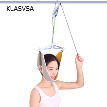 KLASVSA Neck Massager Cervical Traction Device Kit Neck Back Stretcher Adjustment Chiropractic Back Head Massager relaxation(China)