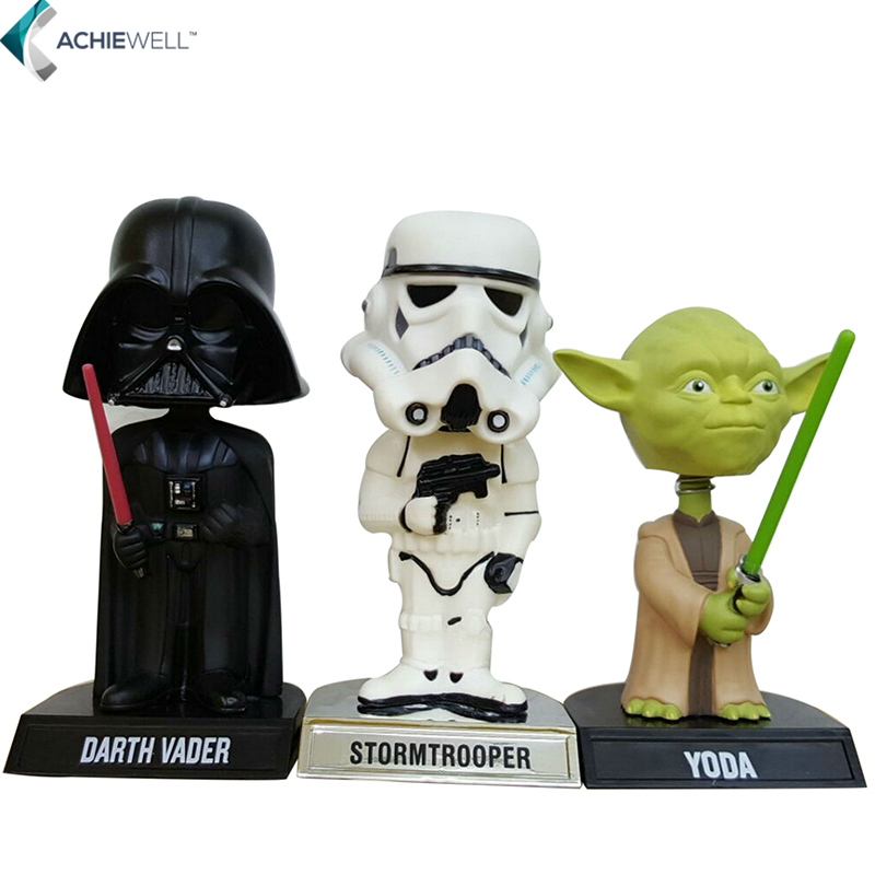 Brand Star Wars White Storm Troops Darth Vader Yoda Action Figure Jedi Knight Model Children Gift PVC Shake Head Collection Toys<br><br>Aliexpress