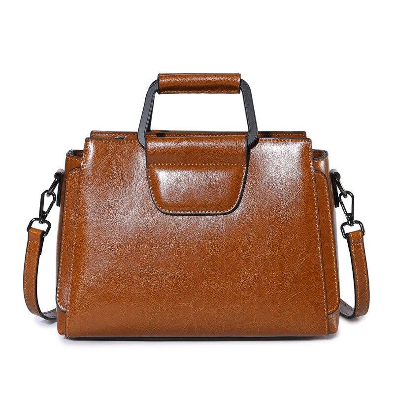 2017 New Trending Genuine Leather Female Totes Wax Oil Cowhide Women Handbag Shoulder Crossbody Bag PR001399<br>