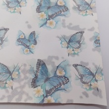 3PC A4 SIZE 21x29cm Printed Butterfly on Suede Faux Pu Leather For Sewing DIY Accessories 4S04B(China)