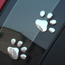 Hot-sale Cute 3D Car ST Window Bumper Body Decal Sticker Bear Cat Dog Paw Foot Prints