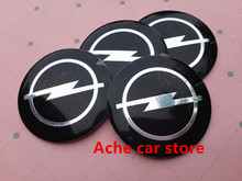 4pcs 56.5mm Opel badge Decal wheel center hub caps emblem stickers Car styling Auto accessories Free shipping