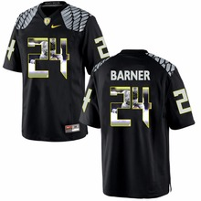 Nike Oregon Kenjon Barner 24 College Ice Hockey Jerseys Size S,M,L,XL,XXL,3XL(China)