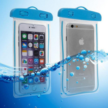 Universal swim Waterproof Touchable soft clear PVC phone bags case for iPhone 7 6 6s plus 5 5s SE 4s noctilucent pouch pocket