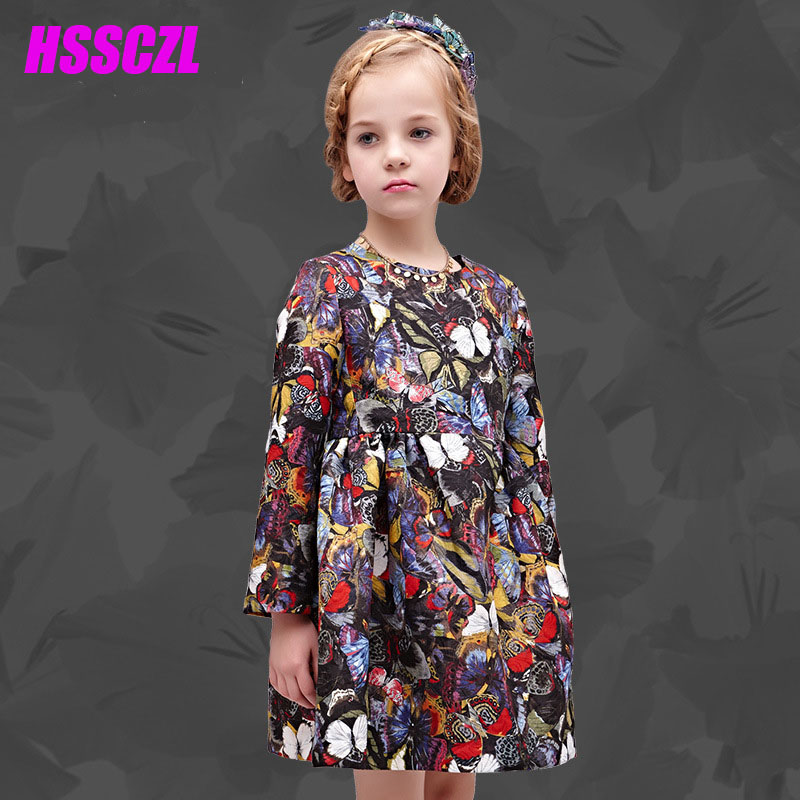 Elsa Dress New Arrival Direct Selling A-line 2017 Spring And Autumn Childrens Dress Long-sleeved Cotton Floral Child Princess <br><br>Aliexpress