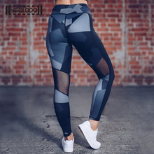 Buy Women Sporting Leggings Clothing Female Fitness Push Sexy Black Mesh Print Pants High Waist Leggin Workout Jeggings for $9.12 in AliExpress store