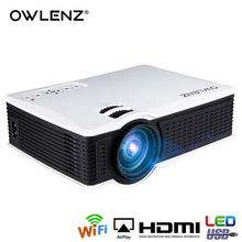 OWLENZ Wireless Mirroring Multi-Screen Airplay Miracast 1500Lumen HD Digital Multimedia LED Mini Projector Proyector Beamer SD60(China)