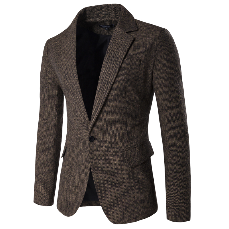 Dropping Shipping Blazers Men Solid Slim Fit Formal Male Blazer Single Button Smart Casual Mens Blazers