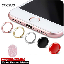 ZUCZUG Colorful Home Button Sticker Aluminum Round Touch ID For iPhone 8 7 6 6s Plus 5 5s Se With Finger Identification Function(China)
