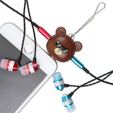 Cute Brown Bear 3.5mm Dual Jack Earphone Audio Splitter Adapter to Headphone for phone MP3 Player Earphone Splitter Adapter