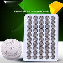 50pcs Lithium Button Cell Battery AG13 LR44 1.5v 160mah Manganese Button Cell For Watches clocks calculator lamp light