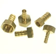 "LOT 5 Hose Barb I/D 8mm x 1/4"" BSP female Thread Brass coupler Splicer Connector fitting for Fuel Gas Water"