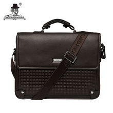 "DIOULAORENTOU Brand 13"" Pu Leather Laptop Bag 2017 Cover Handbag High Quality Mens Business Bag Male Office Briefcase for Men(China)"