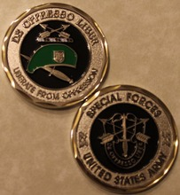 Special Forces Green Berets De Oppresso Liber Army Challenge Coin,Free Shipping(China)