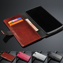 For OnePlus One 1 Case 5.5 inch Luxury Wallet Geniuen Leather Cover for Oneplus one 1 Stand Function Card Holder Black Brown