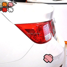 4 x Reflective Scraches Covering Band Aid Auto Decal Cartoon Car Sticker Car Bumper Body Decal Creative Pattern Vinyl(China)