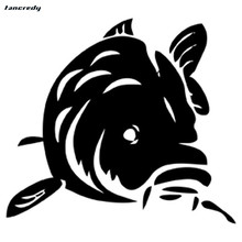 funny Fish Animal Fashion 3D Car Stickers 14.4*12.8cm cool Motorcycle Decals Vinyl Car Body Window Stickers Car Styling