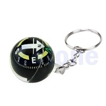 1pc Ball Keychain Liquid Filled Compass For Hiking Camping Travel Outdoor Survival(China)