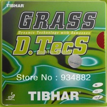 Tibhar GRASS D.TecS Red Long Pips-Out Table Tennis (Ping Pong) Rubber With Sponge
