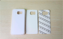Free Shipping! TPU rubber laterals 2D sublimation case for sumsung S6 EDGE case with aluminium metal sheet 20pcs/lot