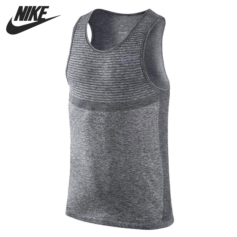 Original New Arrival NIKE AS NIKE DRI-FIT KNIT SINGLET Mens T-shirts Sleeveless Sportswear<br><br>Aliexpress