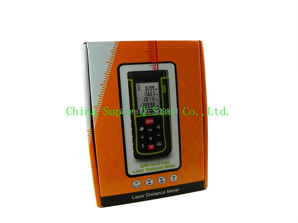 Laser Distance Meter RZE40 Mini Digital Rangefinder Measure House Measure Tools With Air Bubble Level Range 0.05 To 40m 10pc<br><br>Aliexpress