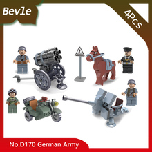 Bevle Store Doll 170 4Pcs/set SWAT Team German Army Model Building Blocks Mini set Bricks Children For Toys Gift