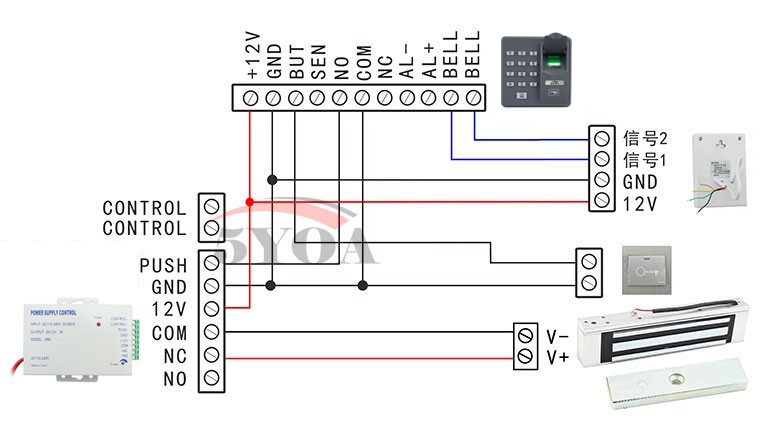 Magnetic Door Lock Wiring Diagram from ae01.alicdn.com