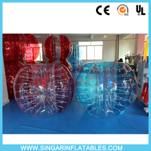 Free shipping 1.0mm TPU 1.5m diameter human hamster ball,loco ball,body zorb suits,bumper ball for adults(China)