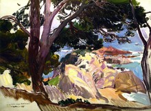 Landscape Of The Cove At Santa Cristina, Lloret Del Mar - By Joaquin Sorolla Y Bastida - Unframed