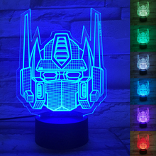 HAIXIANG Autobots Transformers 3D Table Lamp Optimus Prime  Luminaria Led Night Lights Children's room lamp great gift for kids