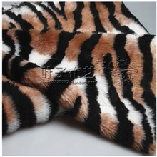 2cm long hair luxury plush fabric tiger print faux fur fabric for garment toy cushion