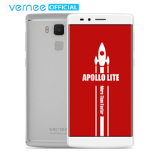 "vernee Apollo Lite 5.5"" FHD Telephones Helio X20 Deca-Core Android 6.0 Cell phones 16MP CAM 4G RAM 32G ROM Type-C Mobile Phone(China)"