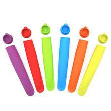 Food Grade Silicone Ice Pop Mold Popsicle Maker Frozen Tray DIY Ice Cream Tools Jelly Lolly Mould For Popsicles Ice Cube Tray(China)