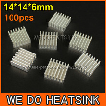 Free Shipping 100Pcs/Lot 14*14*6 mm Extruded Aluminum Radiator Extrusion Aluminium Heatsink For LM2596 LM2577 LM2576(China)