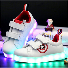 KKABBYII Usb Charging kid Shoes Glowing Sneakers LED Slippers With Light Up Boys Shoes Infant Tenis Led Luminous Sneakers
