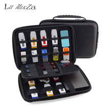 Big Promotion Original Cortex 3 Layers Portable Digital Electronic Accessories Storage Bag USB Flash Drive Carrying Case Black(China)