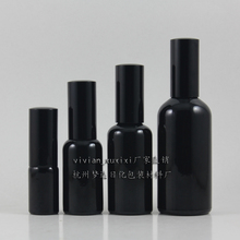 wholesale 50pcs 100ml shiny black travel refillable perfume bottle with black atomiser  mist, black perfume container 100ml