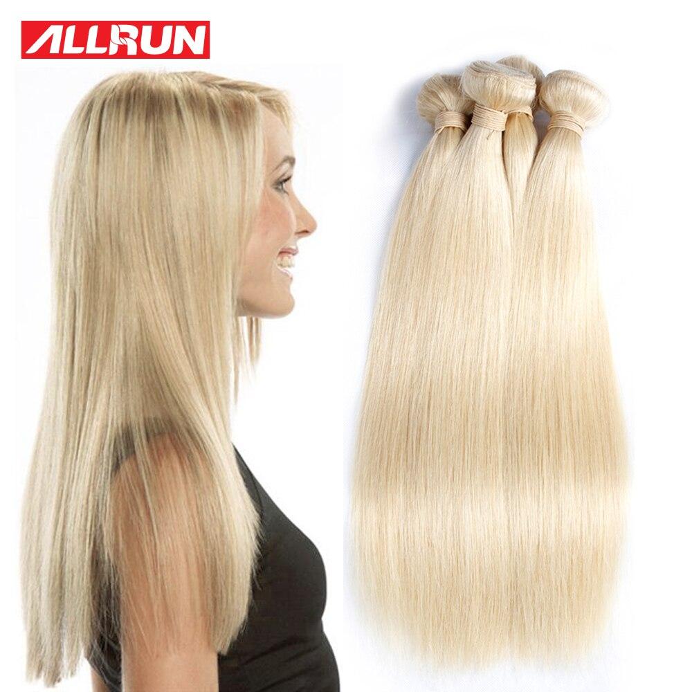 7A Unprocessed Virgin Hair 10 Pcs Malaysian Straight Hair Blonde Bundles Human Hair Allrun Malaysian Hair Blonde Weave<br><br>Aliexpress