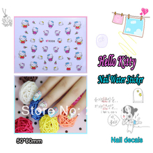 Finger Sticker 22Sheets/Lot Mixed 11 Designs 3D Hello Kitty Nail Sticker Nail Supply Decals Decoration K001-011 Free Shipping