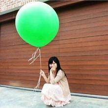 "Cheap Colorful 36"" Inch Giant Red White Green Balloon Decorations Sweet Romatic Wedding Latex Birthday Party Helium Decors"