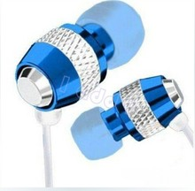 DHL free metal super bass stereo in-ear Earphone with Microphone For iphone/Sony/Samsung HTC etc wholesale 100pcs/lot