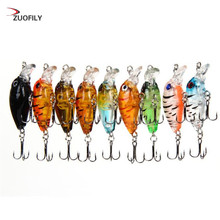 1PCS 4.5cm crankbait Fishhooks plastic hard crank  Perch fish pesca hooks tackle japan wobbler